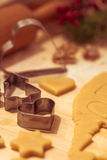 Cookie cutters in different shapes Royalty Free Stock Photography