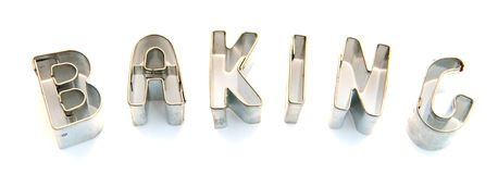 Free Cookie Cutters Spelling Baking Royalty Free Stock Photos - 25567378