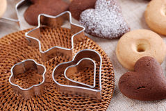 Cookie cutters steel Royalty Free Stock Photo