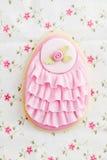 Cookie de açúcar do ovo da páscoa Imagens de Stock Royalty Free