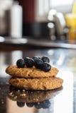 Cookie de farinha de aveia do mirtilo Foto de Stock Royalty Free