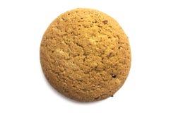 Cookie de farinha de aveia no fundo branco Foto de Stock Royalty Free