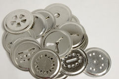 Cookie discs. Discs for a cookie press, several patterns in a random grouping Stock Image