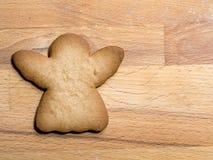 Cookie do anjo do pão-de-espécie do Natal fotografia de stock