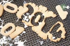 Cookie 2014 do ano novo Imagem de Stock Royalty Free