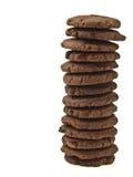 Cookie do chocolate da torre fotografia de stock royalty free