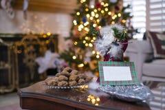 Cookie do Molasse de Surving a Papai Noel imagem de stock royalty free
