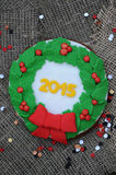 Cookie 2015 do Natal Imagem de Stock Royalty Free