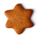 Cookie do Natal no branco, de cima de fotos de stock