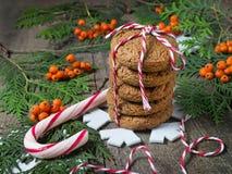 Cookie do Natal para Santa Fotografia de Stock
