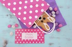 Cookie do pão-de-espécie do coelhinho da Páscoa Imagem de Stock Royalty Free