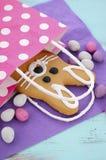 Cookie do pão-de-espécie do coelhinho da Páscoa Fotografia de Stock