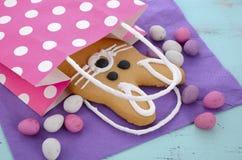 Cookie do pão-de-espécie do coelhinho da Páscoa Foto de Stock