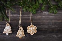Cookie do pão-de-espécie do Natal Fotografia de Stock