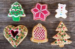 Cookie do pão-de-espécie do Natal Imagem de Stock