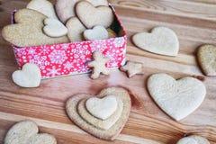 Cookie do pão-de-espécie do Natal Imagens de Stock