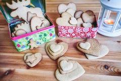 Cookie do pão-de-espécie do Natal Fotos de Stock