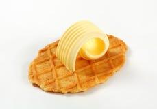 Cookie do waffle da manteiga Fotografia de Stock Royalty Free