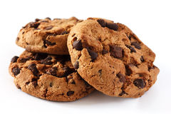 Cookie dos pedaços de chocolate foto de stock