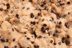 Cookie dough with chocolate chips royalty free stock image