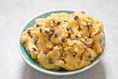Cookie dough with chocolate chips Stock Photos