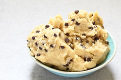 Cookie dough with chocolate chips Stock Image