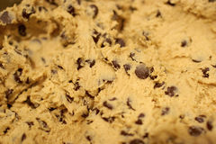 Cookie Dough. Raw Chocolate Chip Cookie Dough stock images
