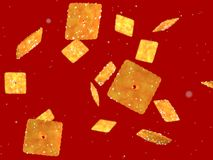 Cookie e açúcar abstratos de voo Imagens de Stock Royalty Free