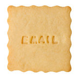 Cookie with EMAIL sign Royalty Free Stock Photo