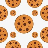 Cookie fast food pattern design vector. For your industry business royalty free illustration