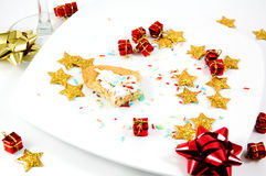 A cookie finished after a party Royalty Free Stock Image