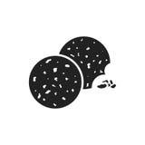 Cookie flat vector icon. Chip biscuit illustration. Dessert food vector illustration