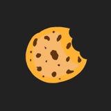Cookie flat vector icon. Chip biscuit illustration. Dessert food stock illustration