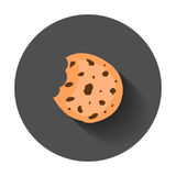 Cookie flat vector icon. Chip biscuit illustration. Dessert food royalty free illustration