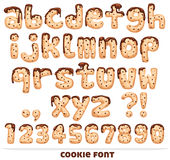 Cookie font Royalty Free Stock Photography