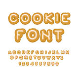 Cookie font. Christmas Gingerbread Alphabet . Mint Cookies ABC. Stock Photography