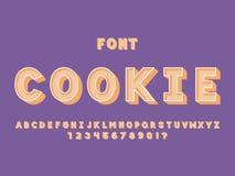 Cookie font. Vector alphabet vector illustration