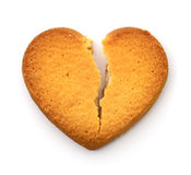 Cookie in the form of broken heart. Stock Images
