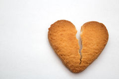 Cookie in the form of broken hearts - symbol of love Stock Photography
