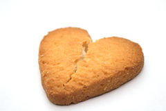 Cookie in the form of broken hearts - symbol of love. Tasty cookies in the form of broken hearts - a symbol of love royalty free stock photography