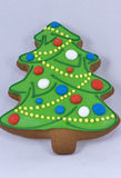 Cookie in the form of a Christmas tree Royalty Free Stock Images