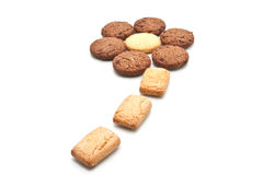 Cookie form in flower shape,  Royalty Free Stock Photography