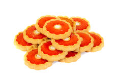 Cookie  with fruit candy Royalty Free Stock Photos