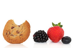 Cookie and Fruit Snack Stock Photography