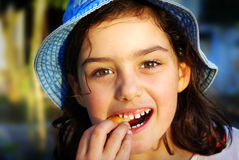 Cookie Girl Royalty Free Stock Photos
