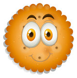 Cookie with happy face Royalty Free Stock Photo