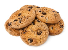 Cookie heap. Against white background royalty free stock photography