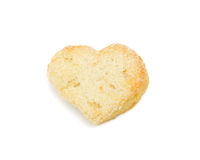 Cookie 'heart', isolated Royalty Free Stock Photos