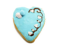 Cookie with a heart shape Royalty Free Stock Photo