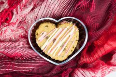 Cookie in heart shape Stock Photography